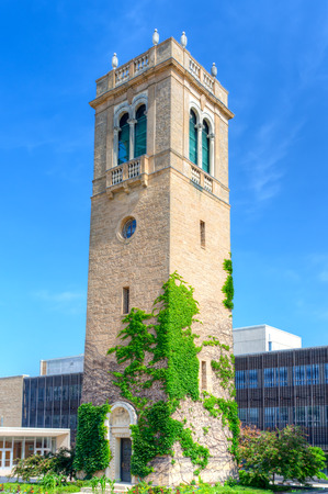 university of wisconsin: MADISON, WIUSA - JUNE 26, 2014: Carillon Tower on the campus of the University of Wisconsin-Madison. The University of Wisconsin is a Big Ten University in the United States.