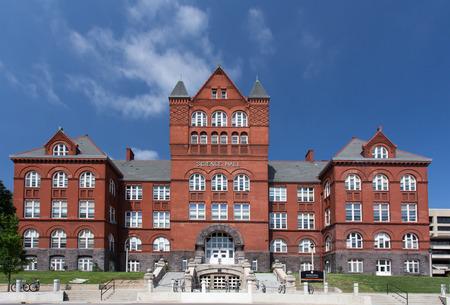 MADISON, WI / EE.UU. - 26 de junio 2014: Science Hall en el campus de la Universidad de Wisconsin-Madison. La Universidad de Wisconsin es una universidad grande diez en los Estados Unidos.
