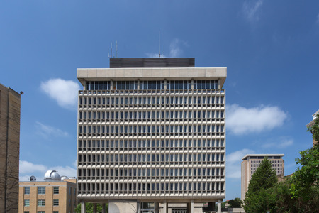 university of wisconsin: MADISON, WIUSA - JUNE 26, 2014: The E.B. Van Vleck Hall building on the campus of the University of Wisconsin-Madison. The University of Wisconsin is a Big Ten University in the United States. Editorial