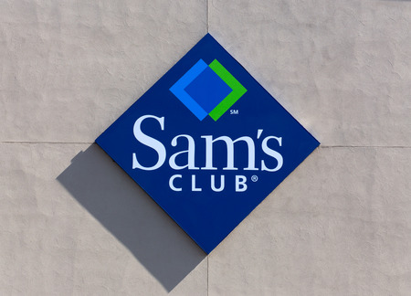 BLOOMINGTON, MNUSA - JUNE 21, 2014: Sams Club exterior sign. Sams Club is an American chain of membership-only retail warehouse clubs owned and operated by Walmart.