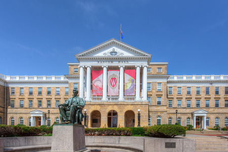 university of wisconsin: MADISON, WIUSA - JUNE 26, 2014: Bascom Hall on the campus of the University of Wisconsin-Madison. The University of Wisconsin is a Big Ten University in the United States.