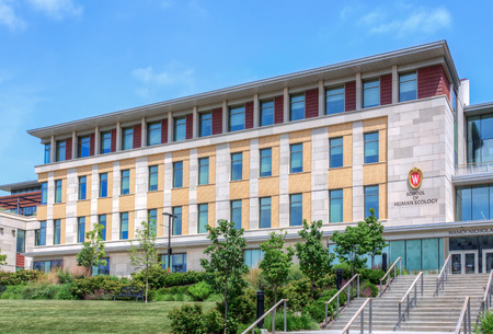 university of wisconsin: MADISON, WIUSA - JUNE 26, 2014: The School of Human Ecology building on the campus of the University of Wisconsin-Madison. The University of Wisconsin is a Big Ten University in the United States.