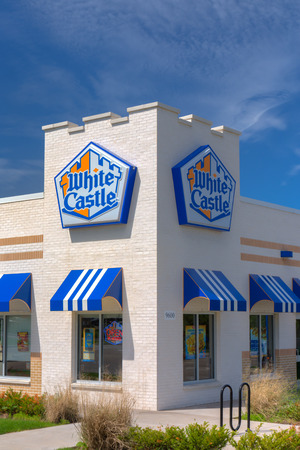 BLOOMINGTON, MNUSA - JUNE 21, 2014: White Castle restuarant exterior. White Castle is a fast food restaurant chain and generally credited as the first fast food chain in the United States.