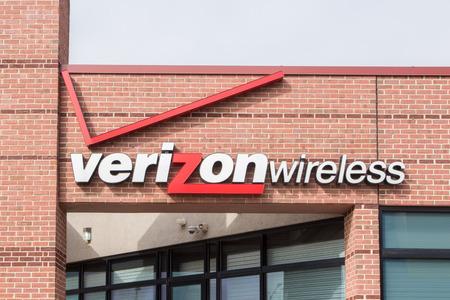 マディソン、WI米国 - 2014 年 6 月 26 日: ベライゾン ・ ワイヤレスの売店。ベライゾン ・ ワイヤレスは、ベライゾン ・ コミュニケーションズの完全