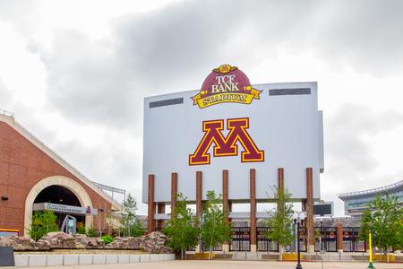 MINNEAPOLIS, MN  USA - 24 juni 2014: TCF Bank Stadium op de campus van de Universiteit van Minnesota. TCF Bank is een openlucht stadion en de thuisbasis van de Minnesota Golden Gophers voetbalteam.