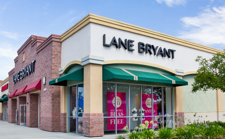 GILROY, CAUSA - JULY 19, 2014: Lane Bryant store exterior. Lane Bryant is a United States retail womens clothing store chain focusing on plus-size clothing.