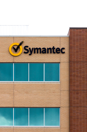 technolgy: ROSEVILLE, MNUSA - JUNE 28, 2014: Symantec regional office. Symantec makes security, storage, backup and availability software and offers professional services to support its software.