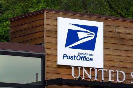 STILLWATER, MNUSA - JUNE 27, 2014: United States Post Office building. The United States Postal Service provides postal service in the United States.