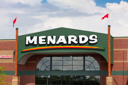 RICHFIELD, MNUSA - JUNE 28, 2014: Menards home improvement store exterior.  Menards is a chain of home-improvement centers in the Midwestern United States.