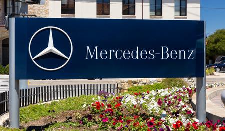 MONTEREY, CAUSA - JULY 23, 2014: Mercedes-Benz automobile dealership.  Mercedes is a German automobile manufacturer, a multinational division of the German manufacturer Daimler AG.