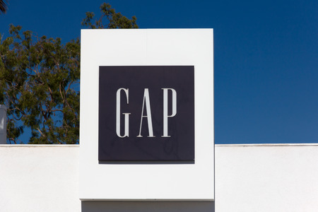 SANTA MONICA, CAUSA - OCTOBER 4, 2014:  Gap store exterior and sign. The Gap, Inc. is an American multinational clothing and accessories retailer.