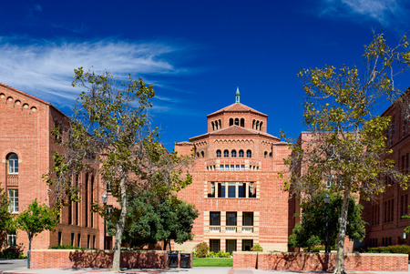 LOS ANGELES, CAUSA - OCTOBER 4, 2014: Powell Library on the campus of UCLA. UCLA is a public research university located in the Westwood neighborhood of Los Angeles, California, United States.