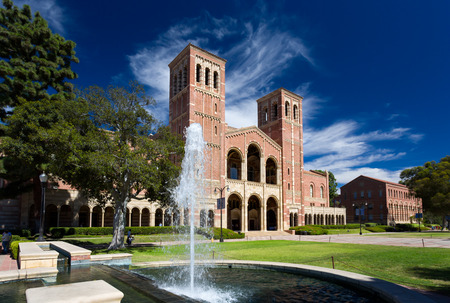 LOS ANGELES, CAUSA  - OCTOBER 4, 2014: Royce Hall on the campus of UCLA. Royce Hall is one of four original buildings on UCLAs Westwood campus.
