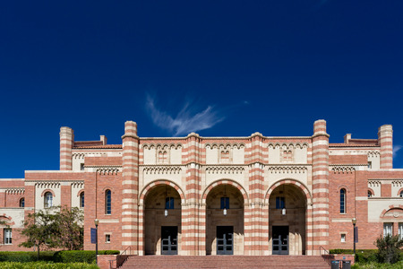LOS ANGELES, CAUSA - OCTOBER 4, 2014: Kaufman Hall on the campus of UCLA. UCLA is a public research university located in the Westwood neighborhood of Los Angeles, California, United States. Editorial