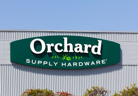 SAND CITY, CAUSA - March 27, 2014: Orchard Supply Hardware exterior. Orchard Supply Hardware (OSH) is an American retailer of home improvement and gardening products. Editorial