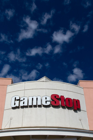 retailer: PASADENA, CAUSA - OCTOBER 25, 2014: GameStop retail store exterior. GameStop Corporation is an American video game, consumer electronics, and wireless services retailer.
