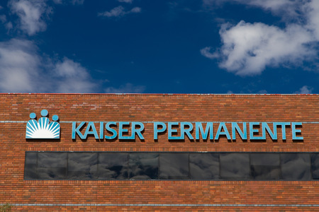 PASADENA, CA/USA - OCTOBER 25, 2014:  Kaiser Permanente medical care facility. Kaiser Permanente is an integrated managed care consortium, based in Oakland, California.