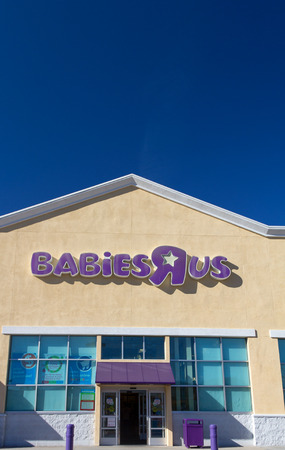 SANTA CLARITA, CAUSA - NOVEMBER 8, 2014: Babies R Us store exterior. Babies R Us is an American baby and juvenile-products retailer.