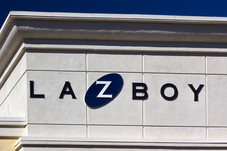 furniture store: SANTA CLARITA, CAUSA - NOVEMBER 8, 2014: La-Z-Boy furniture store exterior. La-Z-Boy is a furniture manufacturer which makes upholstered recliners, sofas, stationary chairs, and sleeper sofas.