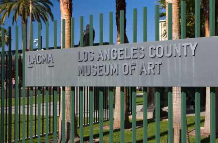 los angeles county: LOS ANGELES, CAUSA - NOVEMBER 29, 2014:  Entrance to the Los Angeles County Museum of Art. The Los Angeles County Museum of Art  is an art museum in Los Angeles. Editorial