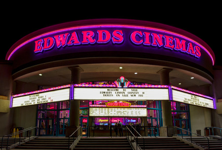 CANYON COUNTRY, CAUSA - DECEMBER 18, 2014: Edwards Cinema movie theater exterior. Edwards Cinema is an American movie theater chain.