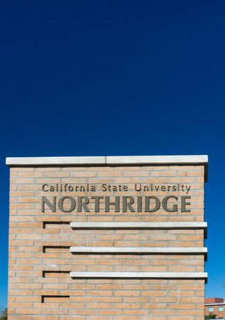 northridge: NORTHRIDGE, CAUSA - DECEMBER 23, 2014: Entrance sign to California State University, Northridge. Cal State Northridge is a public university in the Northridge neighborhood of Los Angeles, California. Editorial