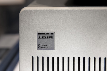 intel: Vintage Original IBM Personal Computer Featuring Intel 8086 Microprocessor