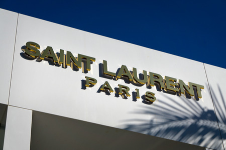 laurent: BEVERLY HILLS, CAUSA - JANUARY 3, 2015: Saint Laurent Paris retail store exterior. Yves Saint Laurent is a luxury fashion house. Editorial