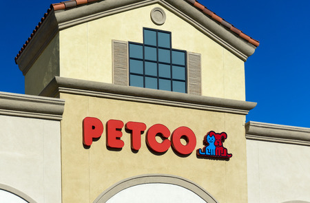 GRANADA HILLS, CAUSA -- JANUARY 6, 2015: Exterior view OF Petco store. Petco is a retail specialty chain of pet supplies and services.