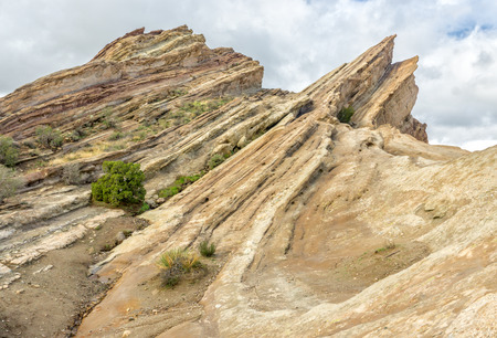 geological feature: Vasquez Rocks Natural Area Park after the rain in Southern California