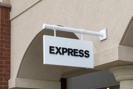 retailer: MAPLE GROVE, MNUSA - JANUARY 16, 2015: Express retail store. Express, Inc. is an American fashion retailer that caters mainly to young women and men.