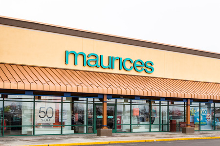 retail chain: ALBERTVILLE, MNUSA - JANUARY 16, 2015: Maurices retail exterior. Maurices is an American clothing retail chain based in Duluth, Minnesota. Editorial