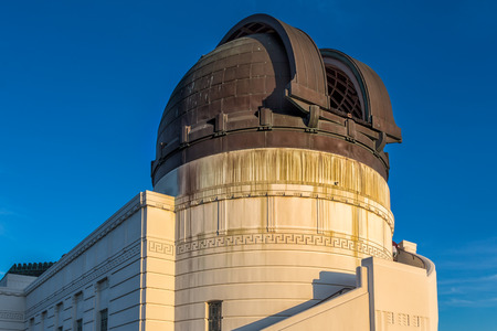 Historic Griffith Observatory in the Hollywood Hills of Los Angeles, California. photo