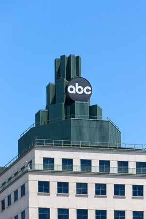abc: BURBANK, CAUSA - MAY 2, 2015: ABC Television Center building and Logo. ABC is a television broadcast corporation in the United States.