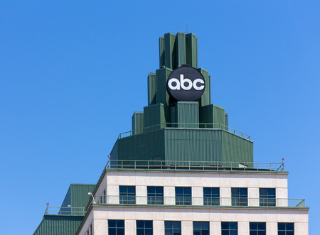 television: BURBANK, CAUSA - MAY 2, 2015: ABC Television Center building and Logo. ABC is a television broadcast corporation in the United States.