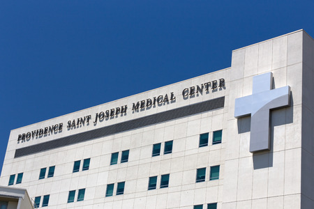 burbank: BURBANK, CAUSA - MAY 2, 2015: Providence Saint Joseph Medical Center. Providence Saint Joseph Medical Center is a hospital in California.