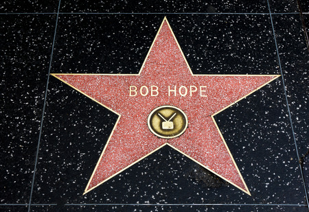 famous industries: HOLLYWOOD, CAUSA - APRIL 18, 2015: Bob Hope star on the Hollywood walk of fame.