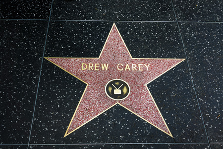 famous industries: HOLLYWOOD, CAUSA - APRIL 18, 2015: Drew Cary star on the Hollywood walk of fame. Editorial