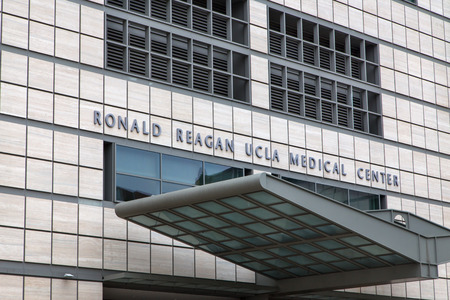 ronald reagan: LOS ANGELES, CAUSA - MAY 25, 2015: Ronald Reagan UCLA Medical Center. The UCLA Medical Center is a hospital in Los Angeles, California, United States.
