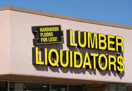 CANYON COUNTRY, CAUSA - MAY 31, 2015: Lumber Liquidators store exterior. Lumber Liquidators is an American retailer of hardwood flooring.