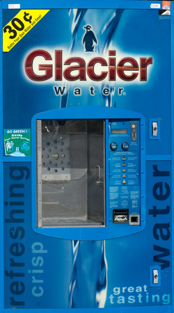 purified: CANYON COUNTRY, CAUSA - MAY 31, 2015: Glacier Water machine. Glacier Water owns and operates Water and Ice vending machines in North America. Editorial