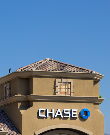 SANTA CLARITA, CAUSA - MAY 31, 2015: Chase Bank exterior. Chase is a consumer and commercial banking subsidiary of the multinational banking corporation JPMorgan Chase.