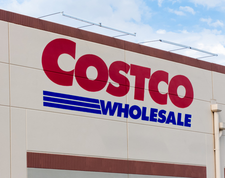 retailer: SANTA CLARITA,CAUSA - JUNE 12 2015: Costco Wholesale store exterior. Costco Wholesale Corporation is a membership-only store and  second largest retailer in the United States.
