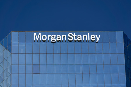 financial services: LOS ANGELES, CAUSA - JULY 11, 2015: Morgan Stanely building and logo. Morgan Stanley is an American multinational financial services corporation. Editorial
