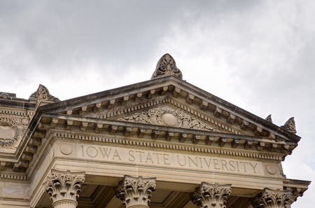 college campus: AUGUST 6, 2015: Beardshear Hall on the campus of Iowa State University Editorial