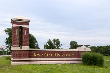 educational institution: AMES, IAUSA - AUGUST 6, 2015: Entrance to Iowa State University. Iowa State is a research university in the United States. Editorial