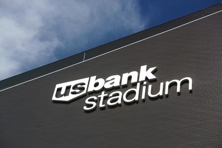 vikings: MINNEAPOLIS, MNUSA - AUGUST 6, 2015: U.S. Bank Stadium. U.S. Bank Stadium is the home starting 2016 of the Minnesota Vikings. Editorial