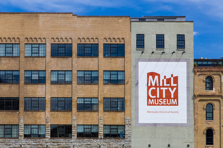 MINNEAPOLIS, MN/USA - AUGUST 5, 2015: The Mill City Museum. Mill City Museum is a Minnesota Historical Society museum on the banks of the Mississippi River.
