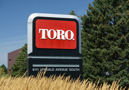 BLOOMINGTON, MNUSA - August 12, 2015: The Toro Company world headquarters. Toro is an American manufacturer of lawn mower and snow removal equipment.