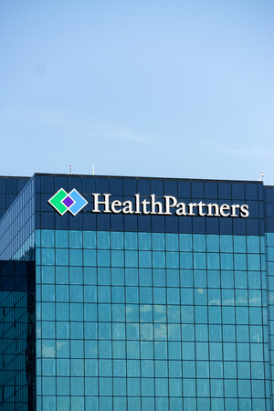care providers: BLOOMINGTON, MNUSA - August 12, 2015: HealthPartners headquarters building. HealthPartners is an integrated, nonprofit health care provider.